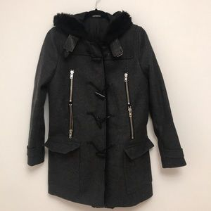 Wool Kooples coat. Mid thigh length.